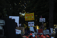 Signs during ESPN's College Gamday in the Grove in Oxford, Miss. on Saturday, October 4, 2014. The broadcast was ESPN College Gameday's first ever from Ole Miss.