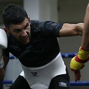 Roma 03/04/2018 Palestra Pro Fighting<br /> Emanuele Blandamura in preparazione per l'incontro a alla Yokohama Arena contro Ryota Murata, Campione del Mondo WBA dei pesi medi
