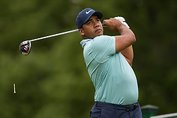 May 30, 2019 - Dublin, OH, U.S. - DUBLIN, OH - MAY 30: Jhonattan Vegas of Venezuela plays his shot from the 18th tee during the Memorial Tournament presented by Nationwide at Muirfield Village Golf Club on May 30, 2018 in Dublin, Ohio. (Photo by Adam Lacy/Icon Sportswire) (Credit Image: © Adam Lacy/Icon SMI via ZUMA Press)