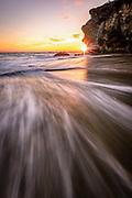 Thousand Steps Beach at Sunset