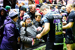 Players sign autographs after the game - Mandatory by-line: Dougie Allward/JMP - 30/11/2019 - RUGBY - Sandy Park - Exeter, England - Exeter Chiefs v Wasps - Gallagher Premiership Rugby