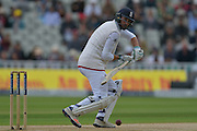 James Vince of England guides a delivery from Sohail Khan of Pakistan (not shown) down to third man during the International Test Series 2016 match between England and Pakistan at Edgbaston, Birmingham, United Kingdom on 3 August 2016. Photo by Simon Trafford.