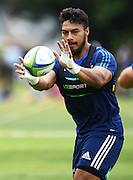 George Moala during a Blues Super Rugby pre season training session at Victoria Park in Auckland, New Zealand. Friday 4 December 2015. Copyright Photo: Andrew Cornaga / www.Photosport.nz