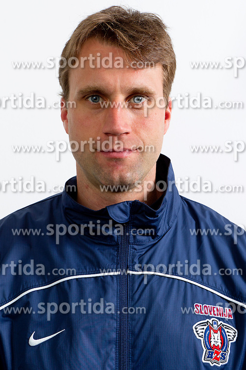 Greg Kuznik of Slovenian Ice Hockey team for World Championship 2011 that will be in Bratislava, on April 25, 2011 at in Ljubljana, Slovenia. (Photo By Matic Klansek Velej / Sportida.com)