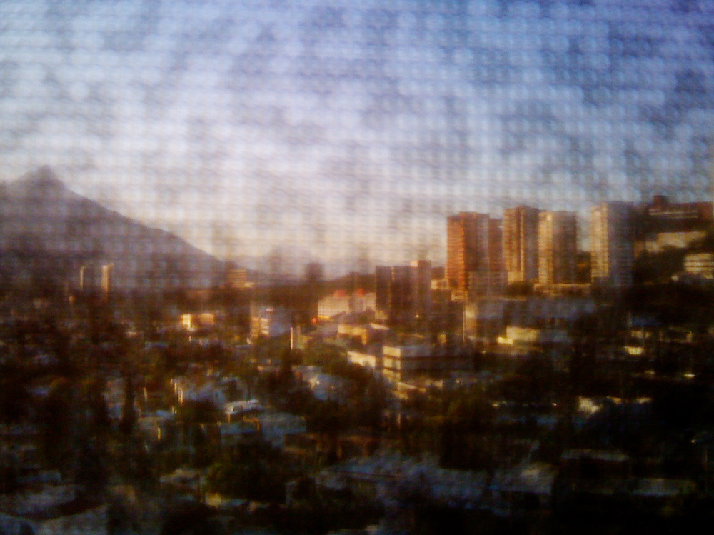 Elevated view of Monterrey, Mexico - from Hotel Presidente Intercontinental.