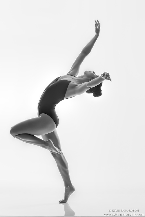 Black and white dance photography-Reach I-featuring Dance As Art dancer Darielle Loprete