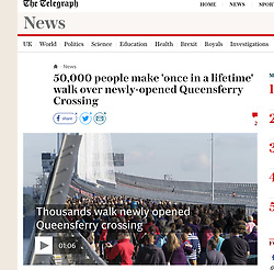 The Telegraph; Queensferry Crossing on public walk day