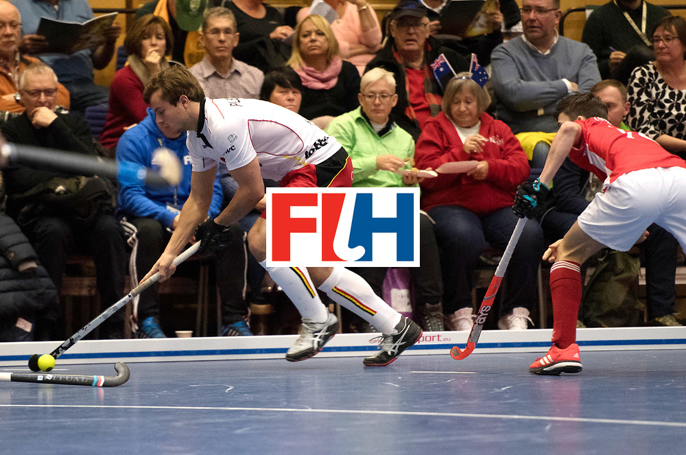 BERLIN - Indoor Hockey World Cup<br /> Austria - Belgium<br /> foto: PLENNEVAUX Maxime<br /> WORLDSPORTPICS COPYRIGHT FRANK UIJLENBROEK