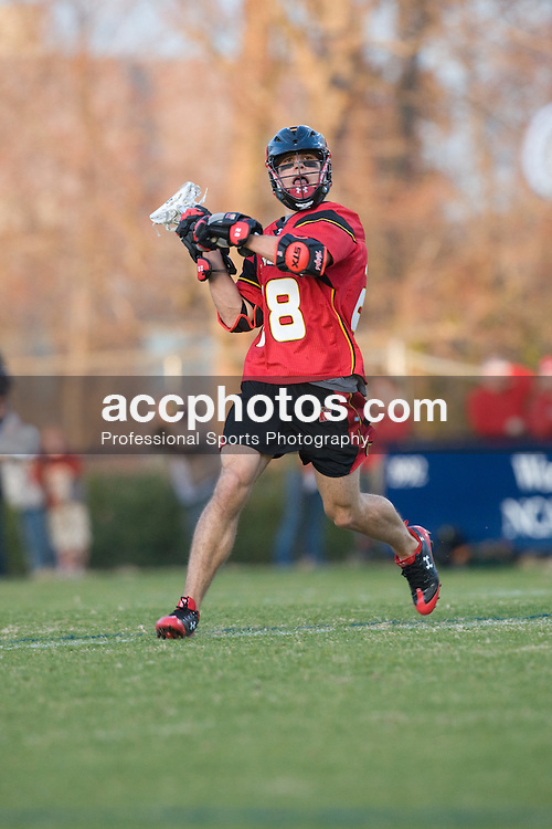01 March 2008: Maryland Terrapins men's lacrosse midfielder Jeff Reynolds (28) in a 15-7 loss to the Duke Blue Devils at Koskinen Stadium in Durham, NC