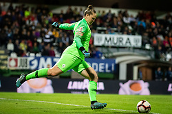 Zala Meršnik of Slovenia during football match between Slovenia and Nederland in qualifying Round of Woman's qualifying for EURO 2021, on October 5, 2019 in Mestni stadion Fazanerija, Murska Sobota, Slovenia. Photo by Blaž Weindorfer / Sportida