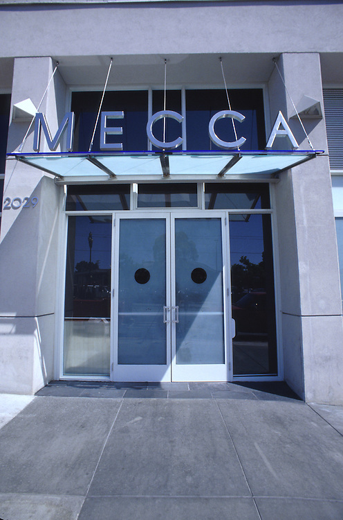 Street entrance to Mecca restaurant on Market Street, San Francisco.