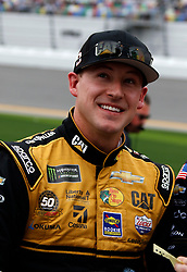 February 10, 2019 - Daytona, FL, U.S. - DAYTONA, FL - FEBRUARY 10: Daniel Hemric, Richard Childress Racing Chevrolet Camaro, Bass Pro Shops/Caterpillar (8) during qualifying for the 61st annual Daytona 500 on February 10, 2019 at Daytona International Speedway in Daytona Beach, Florida  (Photo by Jeff Robinson/Icon Sportswire) (Credit Image: © Jeff Robinson/Icon SMI via ZUMA Press)