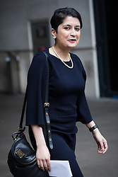 © Licensed to London News Pictures. 26/02/2017. LONDON, UK.  Baroness Shami Chakrabarti leaves BBC Broadcasting House to appear on The Andrew Marr show.  Photo credit: Vickie Flores/LNP