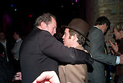 WILLIAM BOYD; TOM HOLLANDER, Party after the opening of 'Flea in her Ear' . The Old Vic. ( John Mortimer write the translation of theplay.) Vinioplois. 14 December 2010. DO NOT ARCHIVE-© Copyright Photograph by Dafydd Jones. 248 Clapham Rd. London SW9 0PZ. Tel 0207 820 0771. www.dafjones.com.