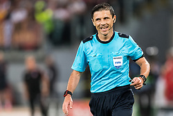 referee Milorad Mazic during the UEFA Champions League group C match match between AS Roma and Atletico Madrid on September 12, 2017 at the Stadio Olimpico in Rome, Italy.