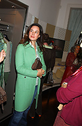 Jeweller CELIA FORNER VENTURI at a lunch at Allegra Hicks, 28 Cadogan Place, London to view their new collection of handbags by F.O.U. on 20th October 2005.<br />