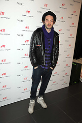 Actor DAVID LEON at a preview of the H&M Comme des Garcons collection held at H&M Regent Stret, London on 12th November 2008.