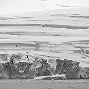 Building sized blocks of ice ready to calve into the Neumayer Channel