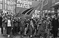 Peoples March for Jobs 1981, Hitchin, Herts. 25/05/1981.