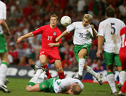CARDIFF, WALES - Wednesday, September 8, 2004: Wales' Paul Parry in action against Northern Ireland during the Group Six World Cup Qualifier at the Millennium Stadium. (Pic by David Rawcliffe/Propaganda)