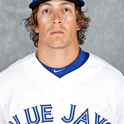 March 2, 2012; Dunedin, FL, USA; Toronto Blue Jays center fielder Colby Rasmus (28) poses for a portrait during photo day at Florida Auto Exchange Stadium.  Mandatory Credit: Derick E. Hingle-US PRESSWIRE