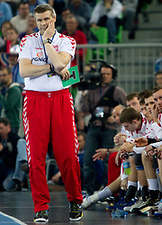 Head coach of Poland Bogdan Wenta during handball match between National teams of Slovenia and Poland of Qualifications for EURO 2012, on March 9, 2011 in Arena Stozice, Ljubljana, Slovenia. (Photo By Vid Ponikvar / Sportida.com)