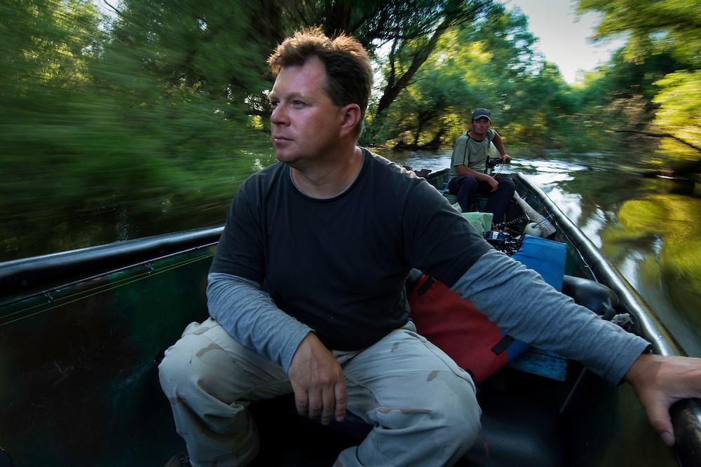 Exploring the delta by boat, Danube Delta, Romania. Christian Mititelu & Florin Moisa