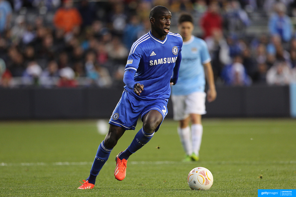 Demba Ba, Chelsea, in action during the Manchester City V Chelsea friendly exhibition match at Yankee Stadium, The Bronx, New York. Manchester City won the match 5-3. New York. USA. 25th May 2012. Photo Tim Clayton