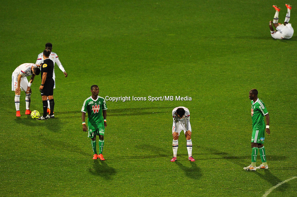 Deception Max Alain GRADEL / Clement GRENIER - 19.04.2015 - Lyon / Saint Etienne - 33eme journee de Ligue 1<br /> Photo : Jean Paul Thomas / Icon Sport