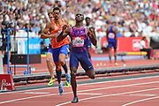 Herron Clement (US) wins the 400m Hurdles Men during the Muller Anniversary Games at the London Stadium, London, England on 9 July 2017. Photo by Jon Bromley.