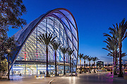 Anaheim Regional Transportation Intermodal Center at Dusk Stock Photo