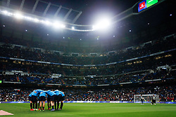 March 2, 2019 - Madrid, Spain - FC Barcelona's team seen before the match during La Liga match between Real Madrid and FC  Barcelona at Santiago Bernabéu in Madrid..Final Score: Real Madrid 0 - 1 FC Barcelona (Credit Image: © Manu Reino/SOPA Images via ZUMA Wire)