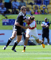 New Zealand's Kurt Baker against England at the IRB International Rugby Sevens, Westpac, Wellington, New Zealand, Friday, February 01, 2013. Credit:SNPA / Ross Setford
