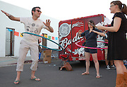 Hula hoopers at Tucson's first-ever Fiesta en el Barrio Viejo in 2010.