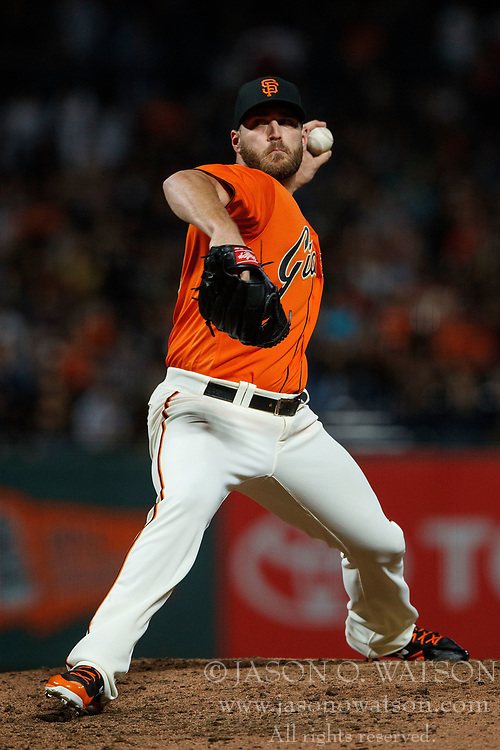 SAN FRANCISCO, CA - JULY 07: Josh Osich #61 of the San Francisco Giants pitches against the Miami Marlins during the seventh inning at AT&T Park on July 7, 2017 in San Francisco, California. The Miami Marlins defeated the San Francisco Giants 6-1. (Photo by Jason O. Watson/Getty Images) *** Local Caption *** Josh Osich