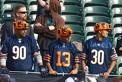 Nov 27, 2011; Oakland, CA, USA; Chicago Bears fans in the stands before the game against the Oakland Raiders at O.co Coliseum. Oakland defeated Chicago 25-20. Mandatory Credit: Jason O. Watson-US PRESSWIRE