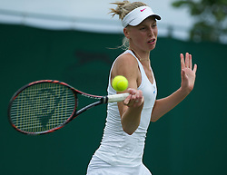 LONDON, ENGLAND - Tuesday, June 21, 2011: Naomi Broady (GRB) in action during the Ladies' Singles 1st Round on day two of the Wimbledon Lawn Tennis Championships at the All England Lawn Tennis and Croquet Club. (Pic by David Rawcliffe/Propaganda)