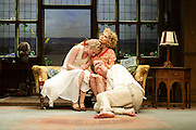 Hay Fever<br /> by Noel Coward<br /> at The Duke of York's Theatre, London, Great Britain <br /> press photocall <br /> 6th May 2015 <br /> <br /> Felicity Kendall as Judith Bliss<br /> <br /> Alice Orr-Ewing as Sorel Bliss<br /> <br /> Edward Franklin as Simon Bliss<br /> <br /> <br /> <br /> <br /> Photograph by Elliott Franks <br /> Image licensed to Elliott Franks Photography Services