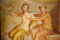Italie, Campanie, Naples, Musée Archéologique National, fresques de Pompei, peinture erotique // Italy, Campania, Naples, National Archaeological Museum, erotic painting from Pompei