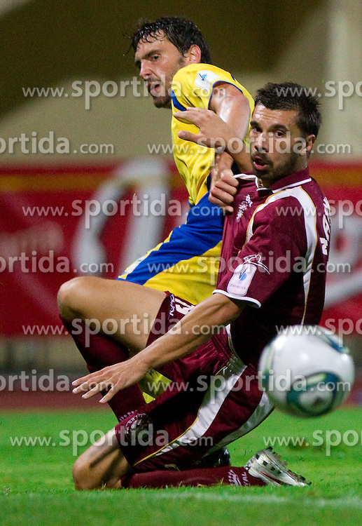 Mario Lucas Horvat of Domzale vs Robert Najdenov of Triglav during football match between NK Domzale and NK Triglav Kranj of 12th Round of PrvaLiga, on September 28, 2011, in Sports centre, Domzale, Slovenia. Domzale defeated Triglav 2-0. (Photo by Vid Ponikvar / Sportida)