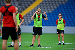 ASTANA, KAZAKHSTAN - Friday, September 15, 2017: Wales' manager Jayne Ludlow training at the Astana Arena ahead of the FIFA Women's World Cup 2019 Qualifying Round Group 1 match against Kazakhstan. (Pic by David Rawcliffe/Propaganda)