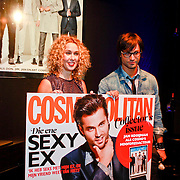 NLD/Amsterdam/20110907 - Presentatie Cosmopolitan Man 2011, Jan Kooijman en hoofdredactrice claudia