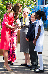 ©Licensed to i-Images Picture Agency. 01/07/2014. London, United Kingdom. The Duchess of Cambridge visits an M-PACT Plus counselling programme in Islington, London . Picture by i-Images