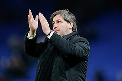 Sporting president Bruno de Carvalho applauds the away supporters after Chelsea win 3-1 - Photo mandatory by-line: Rogan Thomson/JMP - 07966 386802 - 10/12/2014 - SPORT - FOOTBALL - London, England - Stamford Bridge - Sporting Clube de Portugal - UEFA Champions League Group G.