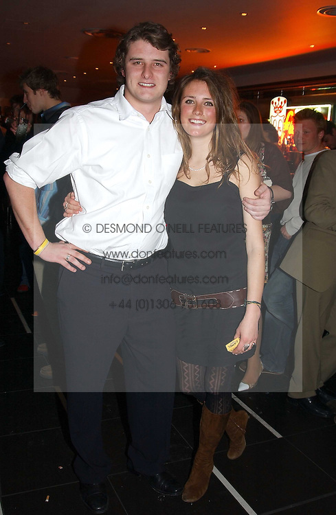 CHARLES BEAMISH and his sister LEO BEAMISH at a night of Cuban Cocktails and Cabaret hosted by Edward Taylor and Charles Beamish at Floridita, 100 Wardour Street, London W1 on 14th April 2005.<br />