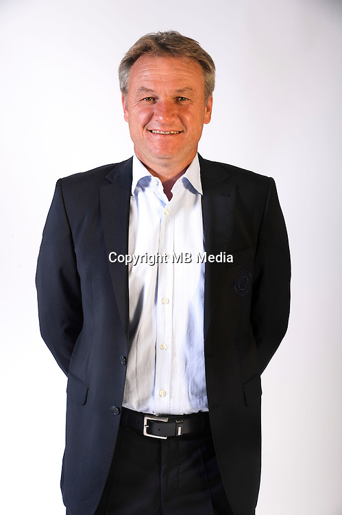 Frederic Hantz coach of Montpellier during the photocall of Montpellier for new season of Ligue 1 on September 27th 2016 in Montpellier<br /> Photo : Mhsc / Icon Sport