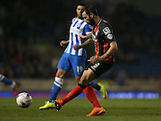 AFC Bournemouth defender Steve Cook during the Sky Bet Championship match between Brighton and Hove Albion and Bournemouth at the American Express Community Stadium, Brighton and Hove, England on 10 April 2015.