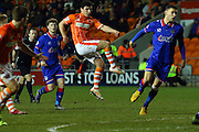 Blackpool Striker Jack Redshaw during the Sky Bet League 1 match between Blackpool and Oldham Athletic at Bloomfield Road, Blackpool, England on 16 February 2016. Photo by Pete Burns.