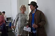 ANASTASIA LENGLET; HENRY HUDSON, The opening of Toby ZieglerÕs exhibition  at Simon Lee Gallery, 12 Berkeley Street, London. 19 January 2012<br /> ANASTASIA LENGLET; HENRY HUDSON, The opening of Toby Ziegler's exhibition  at Simon Lee Gallery, 12 Berkeley Street, London. 19 January 2012