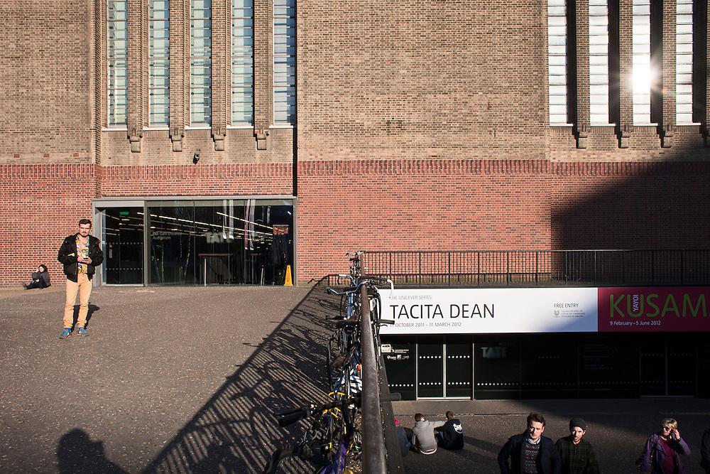 Visitors at the Tate Modern. London, UK. 2012